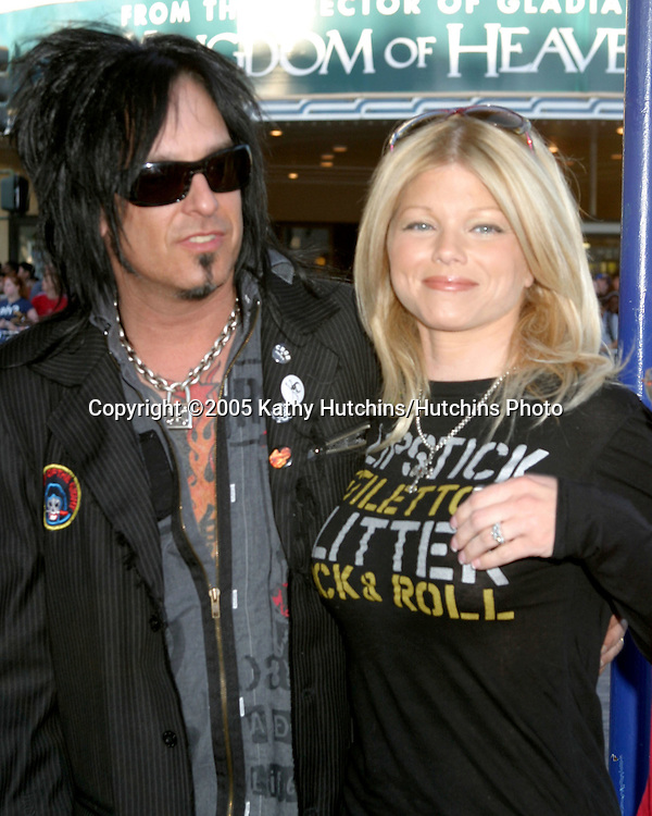 Nikki Sixx.Donna DeErrico.Star Wars 3 :  The Revenge of the Sith Premier.Mann's Village Theater.Westwood,  CA.May 12, 2005.©2005 Kathy Hutchins / Hutchins Photo