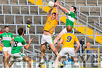 Shaun Keane Legion and  Donal leahy Feale Rangers contest the kick out during their County Championship clash in Fitzgerald Stadium on sunday