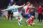 "Atletico de Madrid Gabi Fernandez and Real Madrid Francisco Roman ""Isco"" and Luka Modricduring La Liga match between Atletico de Madrid and Real Madrid at Wanda Metropolitano in Madrid, Spain. November 18, 2017. (ALTERPHOTOS/Borja B.Hojas)"