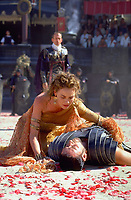 Gladiator (2000)<br /> Russell Crowe &amp; Connie Nielsen<br /> *Filmstill - Editorial Use Only*<br /> CAP/KFS<br /> Image supplied by Capital Pictures