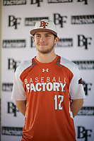 Easton Walker (12) of Aledo ISD in Willow Park, Texas during the Baseball Factory All-America Pre-Season Tournament, powered by Under Armour, on January 12, 2018 at Sloan Park Complex in Mesa, Arizona.  (Zachary Lucy/Four Seam Images)