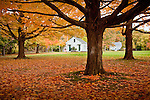 Autumn colors the historical district of Newbury, MA, USA