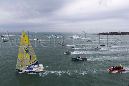 03.04.2016. Le Concarneau. Brittany, France. The start of the AGR2 sailing world cup 2016.
