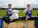 Daragh O'Donnell and Alex Hermitidge pictured at Naomh Mairtin sports day. Photo: Colin Bell/pressphotos.ie