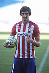 Atletico de Madrid's new football signing Montenegrin Stefan Savic during his presentation at Vicente Calderon stadium in Madrid, Spain. July 27, 2015. (ALTERPHOTOS/Victor Blanco)