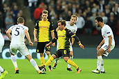 13th September 2017, Wembley Stadium, London, England; Champions League Group stage, Tottenham Hotspur versus Borussia Dortmund; Mario Gotze of Borussia Dortmund takes on the Tottenham midfield