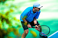 Action from the Wellington premier club tennis competition at Renouf Tennis Centre, Wellington, New Zealand on Saturday, 14 October 2017. Photo: Dave Lintott / lintottphoto.co.nz