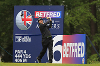 Ricardo Gouveia (POR) on the 6th tee during Round 1 of the Betfred British Masters 2019 at Hillside Golf Club, Southport, Lancashire, England. 09/05/19<br /> <br /> Picture: Thos Caffrey / Golffile<br /> <br /> All photos usage must carry mandatory copyright credit (© Golffile | Thos Caffrey)