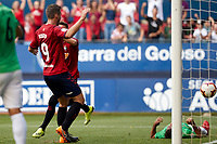 Kike Barja (forward; CA Osasuna) during the Spanish <br /> la League soccer match between CA Osasuna and Almeria at Sadar stadium, in Pamplona, Spain, on Saturday, <br /> September 8, 2018.
