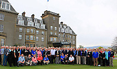 2014 European Ryder Cup Vice Captain - Des Smyth with the Ryder Cup at the Marshal's training weekend at The Gleneagles Hotel Perthshire: Picture Stuart Adams www.golftourimages.com: 27th April 2014