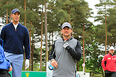 Ric Lewis (left) and Liam Botham during the ProAm ahead of the 2016 BMW PGA Championships played over the West Course Wentworth from 26th to 29th May 2016. Picture Stuart Adams, www.golftourimages.com: 25/05/2016