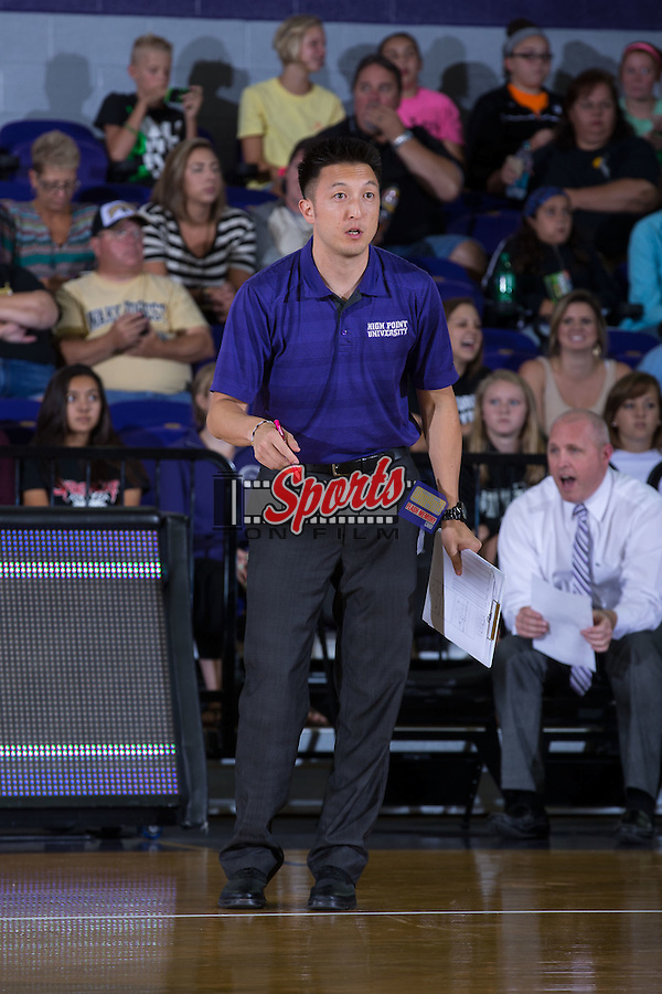 High Point Panthers assistant coach Jake Hong during the match against the Wake Forest Demon Deacons at the Panther Invitational at the Millis Athletic Center on September 12, 2015 in High Point, North Carolina.  The Demon Deacons defeated the Panthers 3-1.   (Brian Westerholt/Sports On Film)