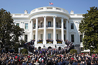 United States President Donald J. Trump welcomes 2017 NCAA Football National Champions: The Alabama Crimson Tide to the White House in Washington, DC, March 10, 2018. <br /> CAP/MPI/RS<br /> &copy;RS/MPI/Capital Pictures