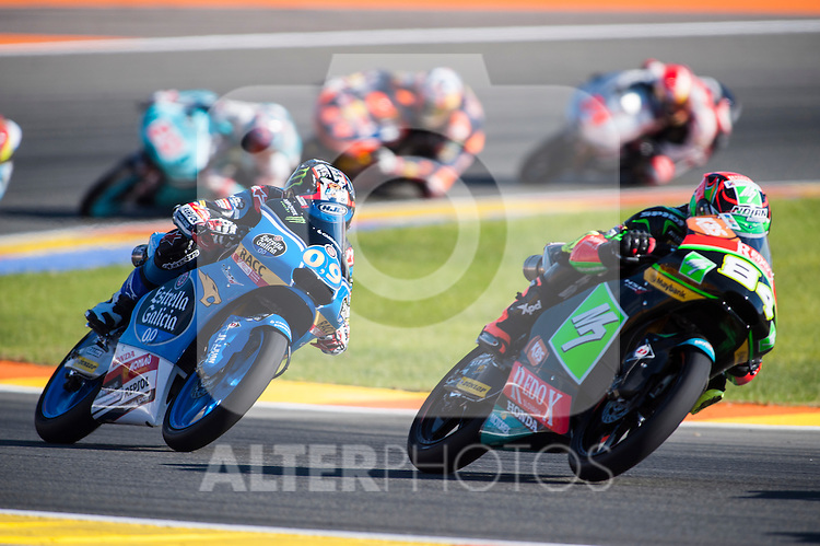 VALENCIA, SPAIN - NOVEMBER 11: Jakub Kornfeil, Jorge Navarro during Valencia MotoGP 2016 at Ricardo Tormo Circuit on November 11, 2016 in Valencia, Spain