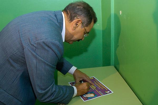 Danilo Medina, dirigente politico del Partido de la Liberacion Dominicana.Lugar:Santo Domingo, RD.Foto:Cesar de la Cruz.Fecha:.