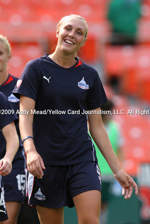18 July 2009: Washington's Allie Long. The Washington Freedom defeated Saint Louis Athletica 1-0 at the RFK Stadium in Washington, DC in a regular season Women's Professional Soccer game.