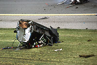 Pat Bedard crashes during practice for the 1984 Indianapolis 500.