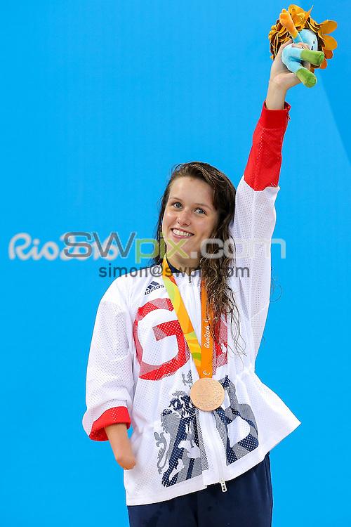 Picture by Rogan Thomson/SWpix.com - 11/09/2016 - 2016 Rio Paralympic Games - Swimming - Olympic Aquatics Centre, Rio de Janeiro, Brazil - Amy Marren of Great Britain wins Bronze in the Women's 200m IM SM9 Final.
