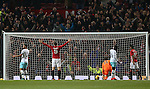 Zlatan Ibrahimovic of Manchester United celebrates scoring the fourth goal during the English League Cup Quarter Final match at Old Trafford  Stadium, Manchester. Picture date: November 30th, 2016. Pic Simon Bellis/Sportimage