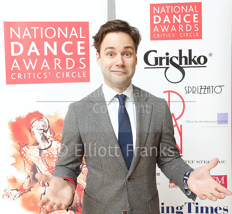The Critics' Circle National Dance Awards 2016 <br /> at the Lilian Baylis Studio, Sadler's Wells, London, Great Britain <br /> <br /> 6th February 2017 <br /> <br /> Alexander Campbell <br /> <br /> Photograph by Elliott Franks <br /> Image licensed to Elliott Franks Photography Services