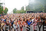 The crowd at the Union J concert at Denny Street on Friday.