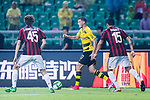 Borussia Dortmund Defender Erik Durm (C) plays against AC Milan Midfielder Niccolo Zanellato (L) during the International Champions Cup 2017 match between AC Milan vs Borussia Dortmund at University Town Sports Centre Stadium on July 18, 2017 in Guangzhou, China. Photo by Marcio Rodrigo Machado / Power Sport Images