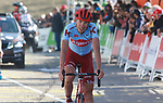 Ilnur Zakarin (RUS) Team Katusha Alpecin crosses the finish line at the end of Stage 4 of the Volta Ciclista a Catalunya 2019 running 150.3km from Llanars (Vall De Camprodon) to La Molina (Alp), Spain. 28th March 2019.<br /> Picture: Colin Flockton | Cyclefile<br /> <br /> <br /> All photos usage must carry mandatory copyright credit (© Cyclefile | Colin Flockton)
