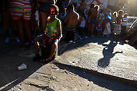 A Brazilian boy, wearing a carnival mask, takes part in the Carnival parade in the favela of Rocinha, Rio de Janeiro, Brazil, 20 February 2012. Rocinha, the largest shanty town in Brazil and one of the most developed in Latin America, has its own samba school called GRES Academicos da Rocinha. The Rocinha samba school is very loyal to its neighborhood. Throughout the year, the entire community actively participate in rehearsals, culture events and parades related to the carnival.