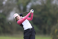 Kate Lanigan (Hermitage) during the second round of the Irish Girls' Open Stroke Play Championship, Roganstown Golf Club, Swords, Ireland. 14/04/2018.<br /> Picture: Golffile | Fran Caffrey<br /> <br /> <br /> All photo usage must carry mandatory copyright credit (&copy; Golffile | Fran Caffrey)