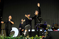 LONDON, ENGLAND - SEPTEMBER 9: Michael Graham, Keith Duffy, Shane Lynch and Ronan Keating of 'Boyzone' performing at BBC Radio 2 Live in Hyde Park, on September 9, 2018 in London, England.<br /> CAP/MAR<br /> &copy;MAR/Capital Pictures
