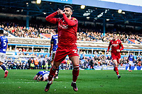 1st February 2020; St Andrews, Birmingham, Midlands, England; English Championship Football, Birmingham City versus Nottingham Forest; Tiago Silva of Nottingham Forest celebrates the opening goal in the 19th minute