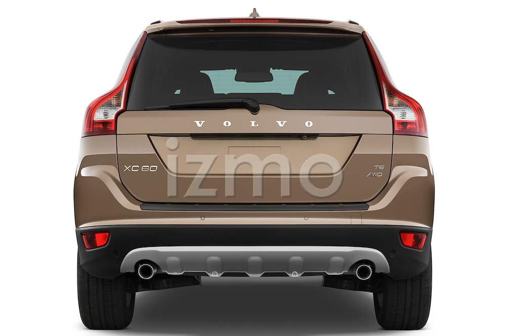Straight rear view of a 2009 Volvo XC 60