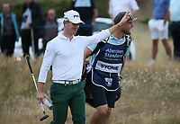Taking the applause down the 17th Brandon Stone (RSA) during the Final Round of the ASI Scottish Open 2018, at Gullane, East Lothian, Scotland.  15/07/2018. Picture: David Lloyd | Golffile.<br /> <br /> Images must display mandatory copyright credit - (Copyright: David Lloyd | Golffile).