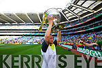 Barry John Keane. Kerry players celebrate their victory over Donegal in the All Ireland Senior Football Final in Croke Park Dublin on Sunday 21st September 2014.