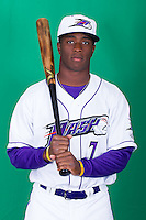 Winston-Salem Dash shortstop Tim Anderson (7) poses for photos during Media Day at BB&T Ballpark on April 1, 2014 in Winston-Salem, North Carolina (Brian Westerholt/Four Seam Images)