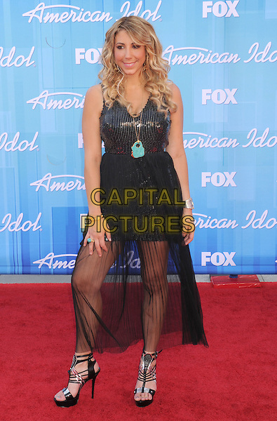 Elise Testone.American Idol Season 11 Finale - Arrivals held at Nokia Theatre LA Live, Los Angeles, California, USA..May 23rd, 2012.full length black dress sheer.CAP/ROT/TM.©Tony Michaels/Roth Stock/Capital Pictures