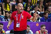 7th September 2017, Fenerbahce Arena, Istanbul, Turkey; FIBA Eurobasket Group D; Belgium versus Serbia; Head Coach Aleksandar Djordjevic of Serbia gestures during the match