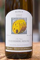 Clos Rebberg Riesling Aux Vignes 2002. Illustration P Poirot. Domaine Marc Kreydenweiss, Andlau, Alsace, France