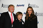 Dorothy Hamill & Donald & Melania Trump at Skating with the Stars (celebrities & Olympic skaters), a benefit gala for Figure Skating in Harlem on April 6, 2010 at Wollman Rink, Central Park, New York City, New York. (Photo by Sue Coflin/Max Photos)