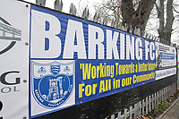 Barking FC signage during Barking vs South Park, BetVictor League South Central Division Football at Mayesbrook Park on 7th March 2020