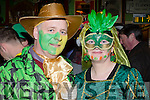Wild West<br /> -------------<br /> Tadhg&amp;Aine Moriarty from Doonsheen, Dingle in Flaherty's bar Dingle supporting the Green and gold Wren on St Stephens day.