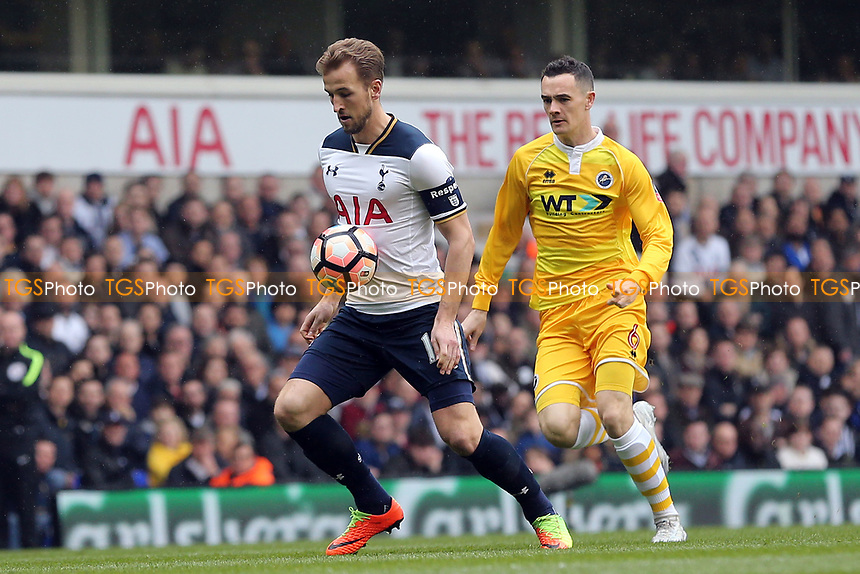 Harry Kane of Tottenham Hotspur and Shaun Williams of Millwall during Tottenham Hotspur vs Millwall, Emirates FA Cup Football at White Hart Lane on 12th March 2017