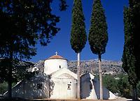 Griechenland, Kreta, Kritsa: Panagia Kera - byzantinische Kirche (dreischiffiger Kuppelbau) | Greece, Crete, Kritsa: Panagia Kera - byzantine church