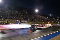Jul. 18, 2014; Morrison, CO, USA; NHRA jet car drivers during qualifying for the Mile High Nationals at Bandimere Speedway. Mandatory Credit: Mark J. Rebilas-