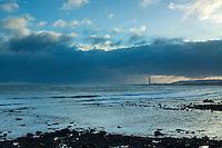 Barns Ness Lighthouse from Catcraig on the John Muir Way near Dunbar, East Lothian
