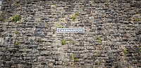 Pictured: A Caernarfon sign by the railway station. Saturday 02 November 2019<br /> Re: North Wales, UK.