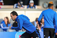 San Jose, CA - Saturday May 06, 2017: Marco Ureña prior to a Major League Soccer (MLS) match between the San Jose Earthquakes and the Portland Timbers at Avaya Stadium.
