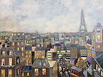 Early Evening in Paris<br /> 30x40 Acrylic on Canvas Original Painting<br /> $28,000
