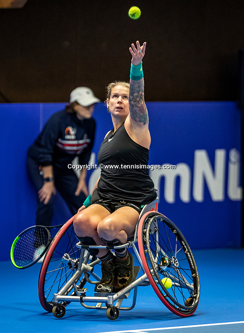Alphen aan den Rijn, Netherlands, December 18, 2019, TV Nieuwe Sloot,  NK Tennis, Wheelchair woman's, Michaela Spaanstra<br /> Photo: www.tennisimages.com/Henk Koster