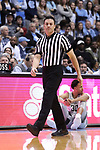 CHAPEL HILL, NC - DECEMBER 30: Referee Lee Cassell. The University of North Carolina Tar Heels hosted the Wake Forest University Demon Deacons on December 30, 2017 at Dean E. Smith Center in Chapel Hill, NC in a Division I men's college basketball game. UNC won the game 73-69.
